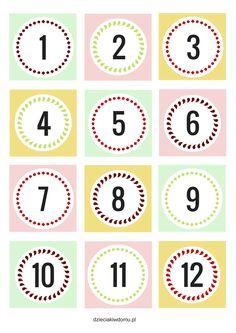 numery do kalendarza adwentowego do druku