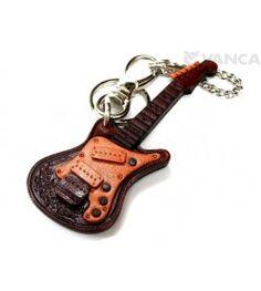 Electric Guitar Handmade Leather Goods/Bag Charm
