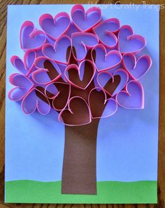 This darling handprint heart tree craft makes a perfect Valentine's Day craft for kids or it can also be made for a Mother's Day craft to give to Mom or Grandma. The paper hearts pop off the page giving this handprint heart tree craft an awesome look. Valentine's Day Crafts For Kids, Valentine Crafts For Kids, Valentines Day Activities, Mothers Day Crafts, Toddler Crafts, Craft Activities, Projects For Kids, Holiday Crafts, Art For Kids