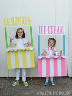 Costume Ideas for Kids:: Lemonade and Ice Cream Stands by Love The Day