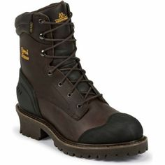 Chippewa Men's Oiled Composition Toe Logger Boots, 8 in., Chocolate, 55053 Mens Lace Up Boots, Mens Shoes Boots, Leather Boots, Chippewa Boots, Logger Boots, Tall Guys, Boots Online, Cool Boots, Fashion Boots