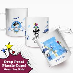 Personalised Pirates Plastic Cup from Net-Gifts.co.uk This drop proof plastic cup can be personalised with any initial and name £9.99 inc Free Delivery