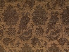 Textile with Falcons Date: 14th century Geography: Made in Lucca or Venice, Italy Culture: Italian Medium: Silk, metal thread Accession Number: 46.156.39