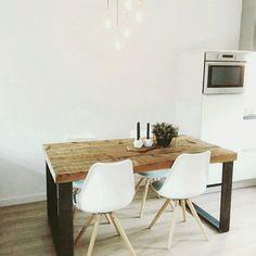 We vinden het altijd zo leuk om onze tafels bij onze klanten thuis te zien...