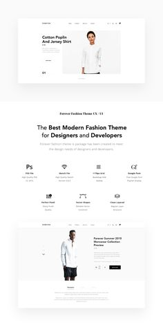 The Best Modern Fashion Theme for Designers and DevelopersForever fashion theme is package has been created to meet the design needs of designers and developers. Web Design, Graphic Design, Website Layout Examples, Minimal Website Design, Digital Web, Fashion Themes, Modern Fashion, Menswear, Designers