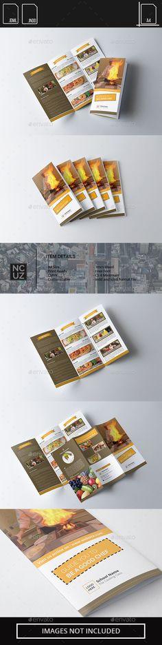 Brochure Trifold School Chef Free Brochure, Corporate Brochure, Brochure Design, Brochure Trifold, Brochures, Flyer Design Templates, Flyer Template, Brochure Template, Chef Training