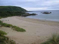 Stroove Beach is located on the east coast of the Inishowen peninsula a few miles north of the village of Greencastle in County Donegal, Ireland.