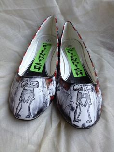 Horror Freak Show Shoes by MissFiendishApparel on Etsy, £45.00