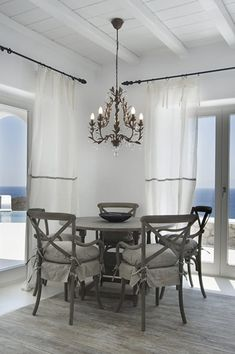 Escape to tropical luxury in Mykonos Coastal Cottage, Coastal Decor, Wabi Sabi, Hygge, Mykonos Villas, House Plans With Pictures, Modern Villa Design, Interior Architecture, Interior Design