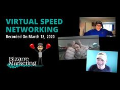 Virtual Speed Networking - March 18, 2020 Email Marketing, Content Marketing, Direct Mail, Cloud Based, Books To Read, March, Social Media, Youtube, Social Networks
