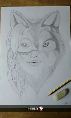 Wolfwoman drawing from 3month