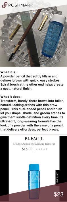 🆕 Lancôme Brow Pencil in Chataigne & Bi-Facils. 🆕 NEW! Lancôme Le Crayon Poudre Brow Expert in Chataigne BNIB! Bi-Facils Eye Makeup Remover Travel. Lancome Makeup Eyebrow Filler