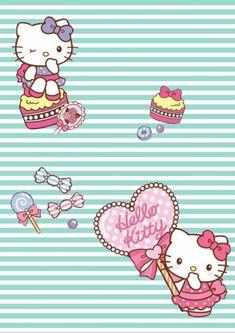 Hello Kitty Backgrounds, Hello Kitty Wallpaper, Cute Backgrounds, Hello Kitty Pictures, Sanrio Hello Kitty, Kawaii Drawings, Sanrio Characters, Fictional Characters, Illustration