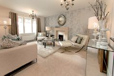 Take a contemporary approach to your formal lounge with light neutrals, clean lines and rich textures - The MacRae, various developments across Scotland.