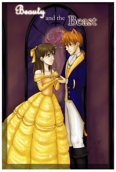 Kyo and tohru as beauty and the beast