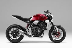 Alongside its cars and mobility concepts, Honda brought this futuristically retro cafe racer show bike to the Tokyo Motor Show. Concept Motorcycles, Honda Motorcycles, Custom Motorcycles, Custom Bikes, Cafe Racer Honda, Cafe Racers, Honda Cb1000r, Honda Bikes, New Honda