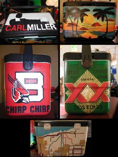 Army And Notre Dame Hand Painted Cooler Things To Make