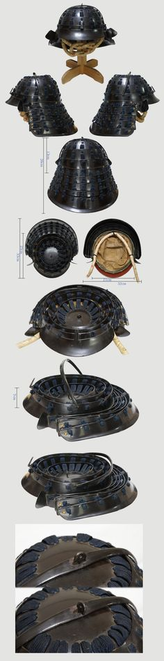Collapsible Japanese Helmet