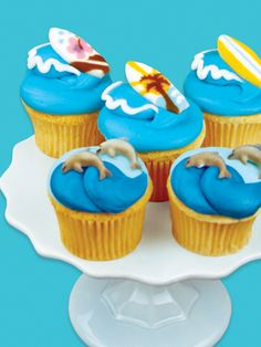 Summer Surf Cupcakes