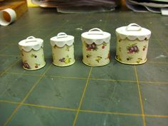 Dollhouse Miniature Furniture - Tutorials | 1 inch minis: 1 inch scale vintage canister set