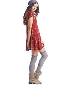 Back Cross-Strap Floral Skater Dress Floral Skater Dress, Skater Skirt, Wet Seal, Latest Fashion Clothes, Jazz, Cute Outfits, Classy, Fancy, Shirt Dress