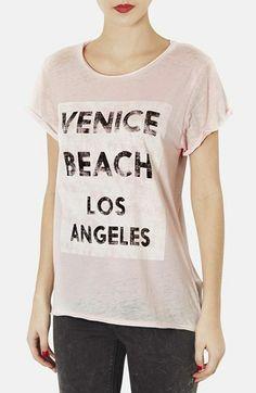 Topshop 'Venice' burnout tee