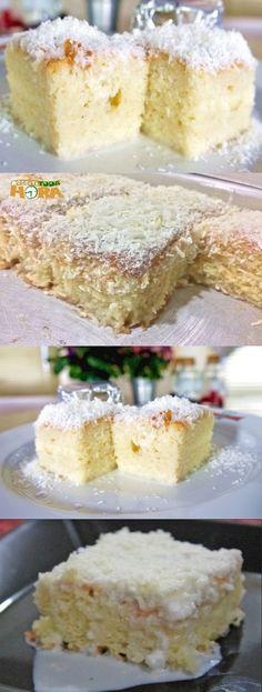 Bolo Gelado Simples #BoloGeladoSimples #BoloGelado #Receitatodahora Sweet Recipes, Cake Recipes, Icebox Cake, Tasty, Yummy Food, Cupcakes, Yummy Cakes, Vanilla Cake, Chocolate Cake