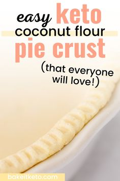 This pie crust recipe is SO easy. The best part is it's so delicious and flaky no one will ever believe it's low carb, gluten free, and made with coconut flour!