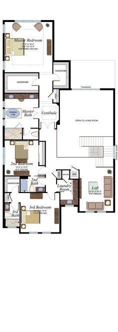 Somerset Grande Plan   Florida Real Estate - GL Homes Concrete Roof Tiles, Undermount Stainless Steel Sink, Modern House Floor Plans, Iron Balusters, Glass Shower Enclosures, Bar Sink, Wood Stairs, House Elevation, Bedroom Loft