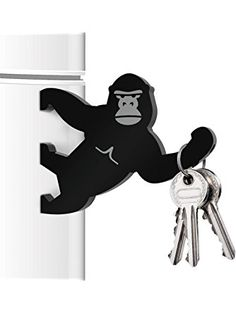 Mustard M15015 Key Kong Magnetic Key Holder Bottle Opener - Black Key Kong,Black ❤ Mustard