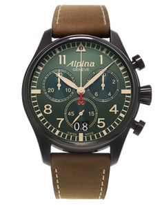 Discover the Alpina Startimer Pilot Big Date Chronograph Military (ref. AL-372GR4FBS6) today.