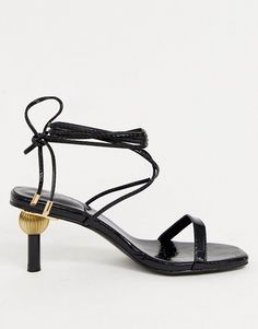 Buy Z_Code_Z Hila ankle tie sandals with statement heel in black at ASOS. Get the latest trends with ASOS now. Sneaker Heels, Confident Woman, Vacation Outfits, Ballet Flats, Shoes Sandals, Heeled Sandals, Stiletto Heels, Asos, Latest Trends