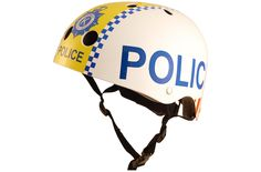 coolest bike helmets for kids: a police helmet from Kiddimoto -- yes!