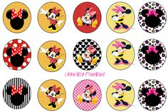 Minnie Mouse bottlecap images (free, of course)