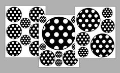 Polka Dot Circle Decal Wall Art Stickers for Teen Girl's Room Decor. Choose from 5 colors: Black/White, Turquoise Blue, Hot Pink, Purple, and Rainbow #decampstudios