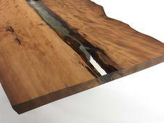 Tavolo rettangolare in legno Kauri CUBE by Riva 1920   design Maurizio Riva, Davide Riva