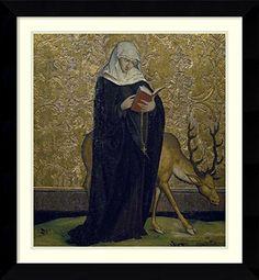 NOVEMBER 1 IS ALL SAINTS DAY Framed Art Print 'Saint Barbara' by Konrad Witz Amanti Art