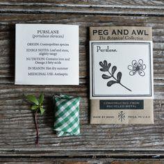 Purslane Botanical Ring by Peg and Awl by PegandAwl on Etsy
