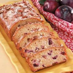 Plum Quick Bread Recipe @ TasteOfHome // Yes, I'm still pinning plum recipes.  150 lbs. of fruit goes a looooong way...