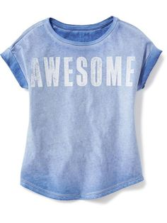 Relaxed Graphic Tee for Girls Product Image