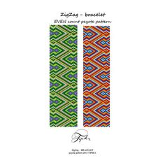 peyote pattern handmade bracelet by tipikabeadwork on Etsy
