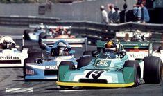 Derek Daly - Chevron B42 Hart - ICI Chevron Cars leads Jacques Lafitte - March 782 BMW/Maublanc - Maublanc Racing Team entering Station's corner - XXXVIII Grand Prix Automobile de Pau 1978