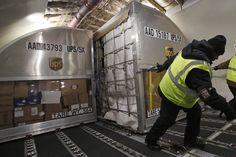Inside a UPS cargo plane / freighter
