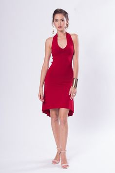 New! Celeste Open Back Sleeveless Tango Dress