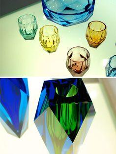 Moser Glass! Sharp, glittering colors are breath taking.