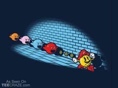 Pac-Mario T-Shirt - http://teecraze.com/pac-mario-t-shirt/ -  Designed by Six Eyed Monster