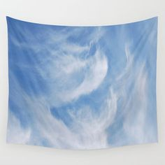Dreamy, wispy clouds and sky  Wall Tapestry by Laureenr