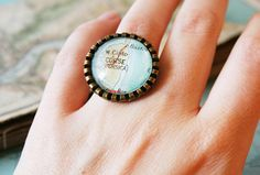 Custom Map Statement Ring Made to Order Cocktail Ring Vintage