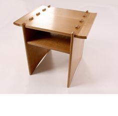 Sukiru Side Table  Materials: English oak  Price: P.O.A.  Dimensions: w55 d45 h47