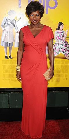 Viola Davis - I love the fact that she rocked natural hair to the Awards!  :)